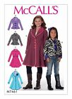 McCalls 7461 Girls Teens Jacket Princess Seam Coat Sewing Pattern 3-14 Yrs M7461