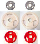 """1.25KG / 2.5KG / 5KG Olympic Tri-Grip Colour Coded Rubber Weight Discs, 2"""" Plate"""