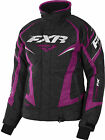 FXR Womens Black Heather/Wineberry Team Snowmobile Jacket Insulated Snocross