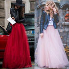 Long Tulle Skirt Princess Celebrity Casual Skirt Party Womens Evening Prom Dress
