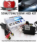 55W 75W 100W HID Kit Replacement Xenon Light Ballast Wire H3 H4 H7 9005 9006 D2S