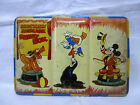 VINTAGE 1950'S PAGE Walt Disney MICKEY MOUSE circus themed PAINT TIN BOX