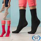Gentle Grip - Womens Over the Calf Crew Extra Wide Loose Top Thin Diabetic Socks