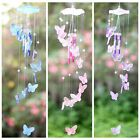 Crystal Butterfly Wind Chime Bell Garden Ornament Yard Garden Hanging Decor