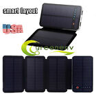 RIPA Touch Switch Double Solar Panels Charger External Battery Solar Power Bank