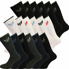 Mens Quality Cotton Rich Cushion Sole Crown Sports Socks Work Shoe Size 6-11
