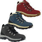 LADIES WOMENS LEATHER WATERPROOF WALKING HIKING ANKLE BOOTS SHOES TREK SIZES 3-8