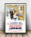 French line. : old Cruise ship advert, Reproduction poster, Wall art.