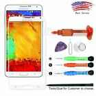 Samsung Galaxy Note 3 Front Screen Glass Lens Replacement kit White Tools Glue