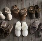 Fashion Winter Women Men Faux fur Warm Soft Plush Indoor Couple Home Slippers