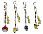 POKEMON THEMED BAGCHARMS, TWO CHARMS -   PLAIN or PERSONALISED & FREE POST