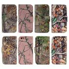 PU Leather Camo Card Holder Pouch Stand Cover Wallet Hybrid Samsung Galaxy S4