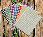 "Sparkle Round Dots 3/8"" Scrapbooking Stickers 10mm Sparkling Labels 2100 Pack"