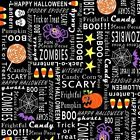 HALLOWEEN ZOMBIES SCARY SPOOKY SPIDERS GOTH TRICK OR TREAT FABRIC Free Oz Post