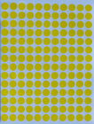 Yellow Stickers Colored Coding Labels Small Circles 3/8 Inch 10mm Tag Dots Sheet