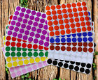 Classic Colors Circle Stickers ~3/4 Inch 10 Colors 720 Pack 17 mm Small Dots