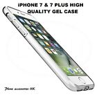 Apple iPhone 7 & 7 PLUS High Quality Gel Case Clear Gel Cover Transparent Cover