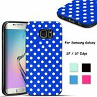 Soft TPU Rubber Polka-dot Protective Case Cover For Samsung Galaxy S7/S7 Edge