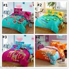 4pcs/set 100% cotton 3D Owl Linen Duvet Cover/Bed Sheet/Pillow Cases Double Size