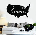 Vinyl Wall Decal Usa Map Living Room Decoration Stickers Mural (ig3706)