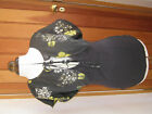 NEXT VISCOSE X CHARCOAL GREY TOP & FLORAL PRINT SHRUG YELLOW 8 14 20 NEW