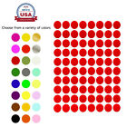 "Color Coding Labels 1/2"" 13mm Small Dots Sticker Sheets Round Circle 400 Pack"