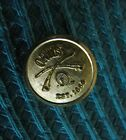 Orvis Crossed Rods Gold Finish Brass Blazer Button (Jacket or Sleeve)