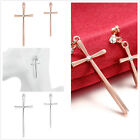 1Pair New Charms Exquisite Rhinestone Cross Shape Dangle Hook Earring Fit Gift C