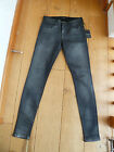 JOE'S JOES THE SKINNY METALLIC GUNMETAL SPARKLY JEANS 26 WAIST XS UK 8 NEW