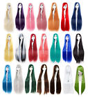 100 cm Long 24Colors Straight Doll Display Party Cosplay Anime Wig Free Wigs Cap