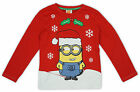 Boys Despicable Me Minions Snowflake Xmas Long Sleeve T-Shirt Top 2 to 7 Years
