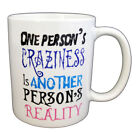 Tim Burton Quote One Person Crazy Another Reality PRINTED MUG MUGS-GIFT,