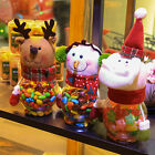 HIG Christmas Candy Sealed Cans Transparent  Snowman Cartoon Food Jars Gift