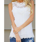 Fashion Women's Summer Lace Vest Top Sleeveless Blouse Casual Tank Tops T-Shirt