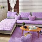 Newly Sofa Mat Comfy Slipcover Anti-Skid Couch Protector Pure Color Sofa Cushion