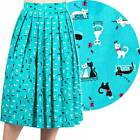 Banned Apparel Lazy Cats 50's Skirt Cute Retro Rockabilly Vintage Style Kitty