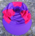 FREE UK POST Riding Hat Silk Skull cap Cover PURPLE  HOT PINK With OR w/o Pompom