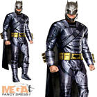 Deluxe Armoured Batman Mens Fancy Dress Dawn of Justice Superhero Adults Costume