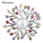 20PCS/Lot Vocheng Snap Jewelry Luxury CZ Stone Pearl Brass Material Vn-1636*20
