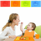 Baby Kids Silicone Placemat Plate Toddlers Feeding One-piece Infants Dish Tray