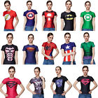 Girls Women Superhero Marvel Comics Costume Stretch T-Shirts Bicycle Jersey Tops