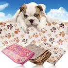 Warm Pet Paw Print Dog Cat Puppy Fleece Soft Blanket Bed Cushion Carpet Mattress