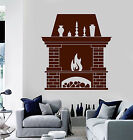 Viny Wall Decal Fireplace Fire Home Interior Room Stickers (ig3821)