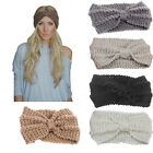 Women Ladies Winter Crochet Knit Knitted Wool Hat Headband Headwrap Ear Band New