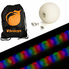 Glow Juggling Ball Set - 5x Strobe LED Juggling Balls & Firetoys Bag!