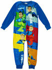 Boys Thunderbirds Tracey Brothers Fleece Zipper Sleepsuit Romper 5 to 10 Years