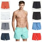 Men's New Ex H&M Quick Dry Swimming Shorts Summer Solid Colors Mesh Lining Strip