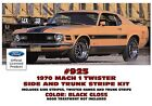 GE-925 1970 FORD MUSTANG MACH 1 - TWISTER SPECIAL - SIDES and TRUNK STRIPE KIT