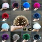 100% Natural raccoon fur pom pom ball for winter hats shoes bags caps 9 Colors