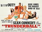 THUNDERBALL JAMES BOND Movie Poster [Various Sizes] $10.0 USD on eBay